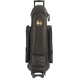 Gard Tenor Trombone Wheelie Bag 22-WBFSK Black Synthetic w/ Leather Trim