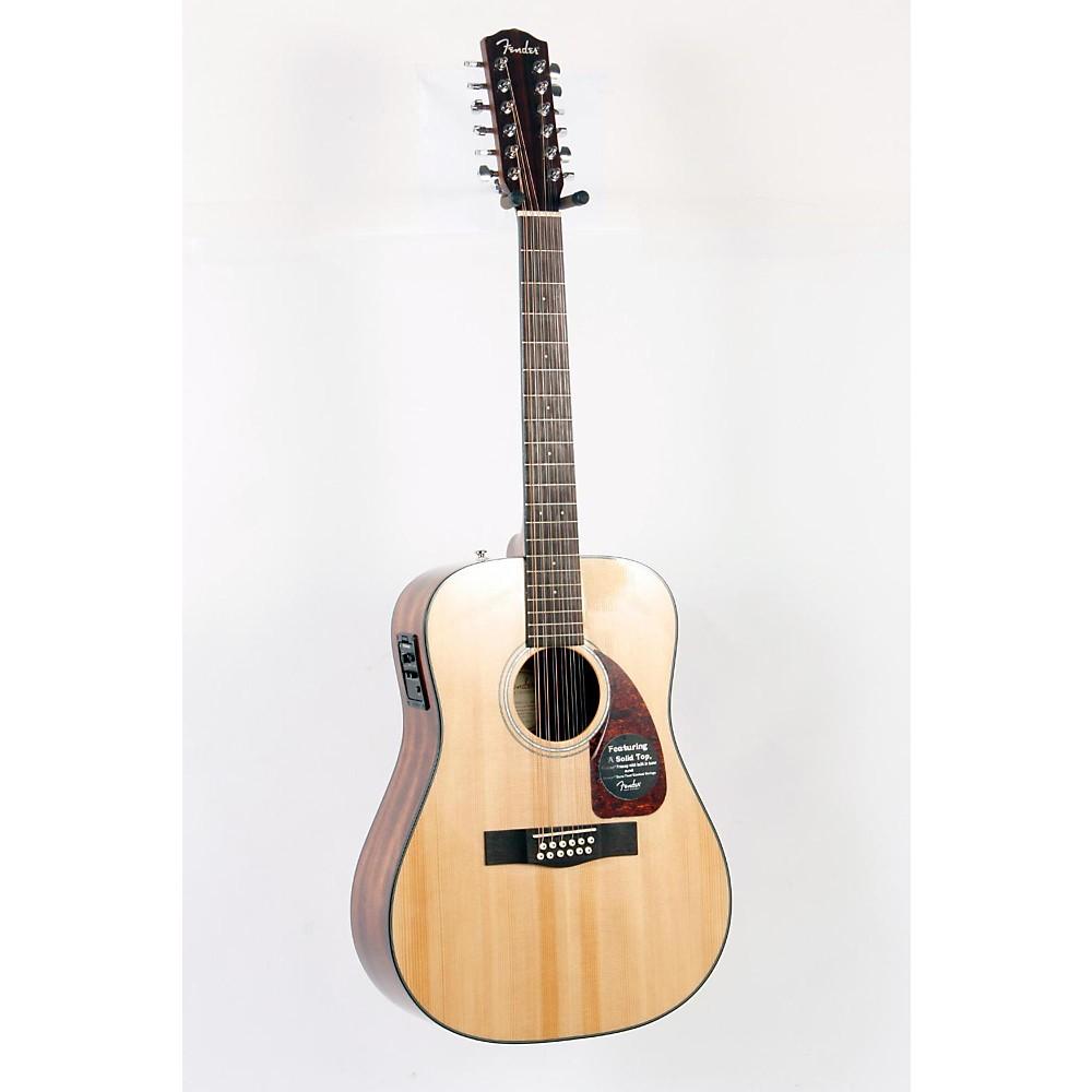 FENDER CD-160SE 12-String Acoustic-Electric Guitar Natural 888365211817