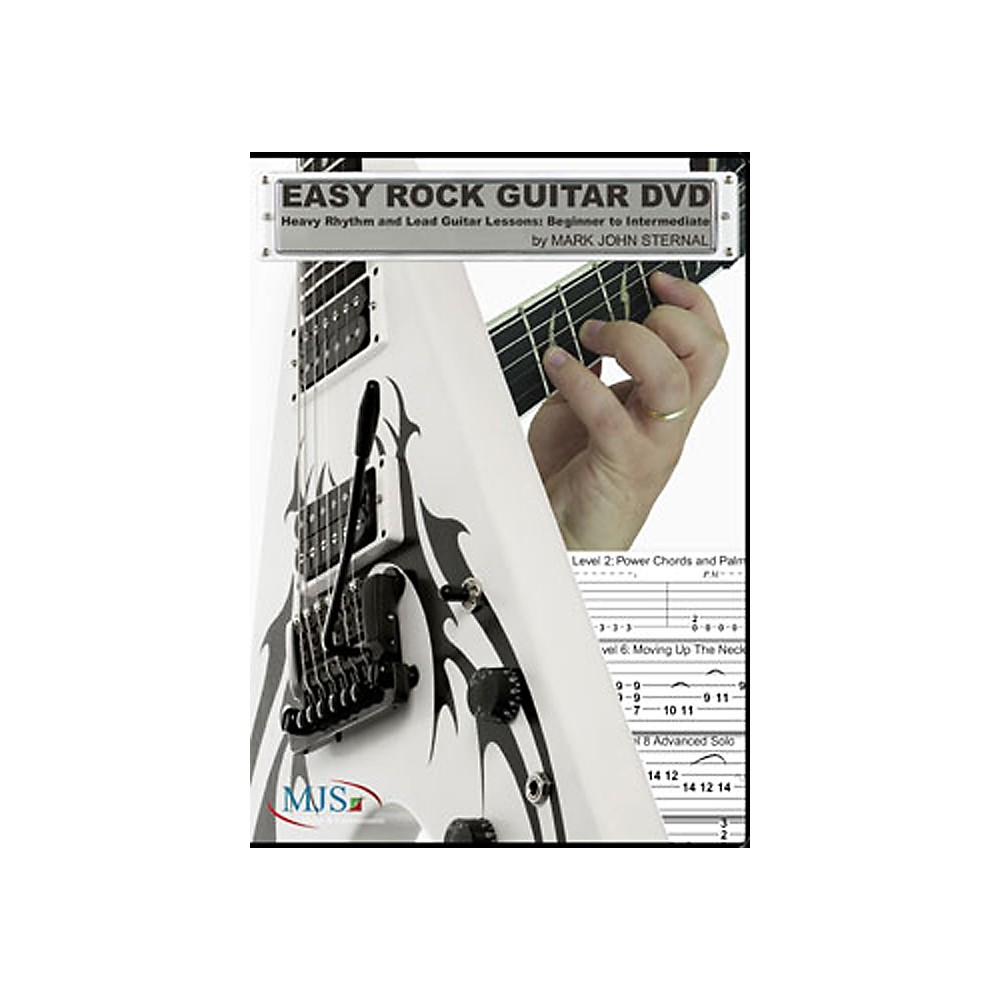 mjs music publications easy rock guitar dvd heavy rhythm lead beg inter ebay. Black Bedroom Furniture Sets. Home Design Ideas