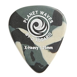 D'Addario Planet Waves Camouflage Celluloid Guitar Picks Extra Heavy 10 Pack