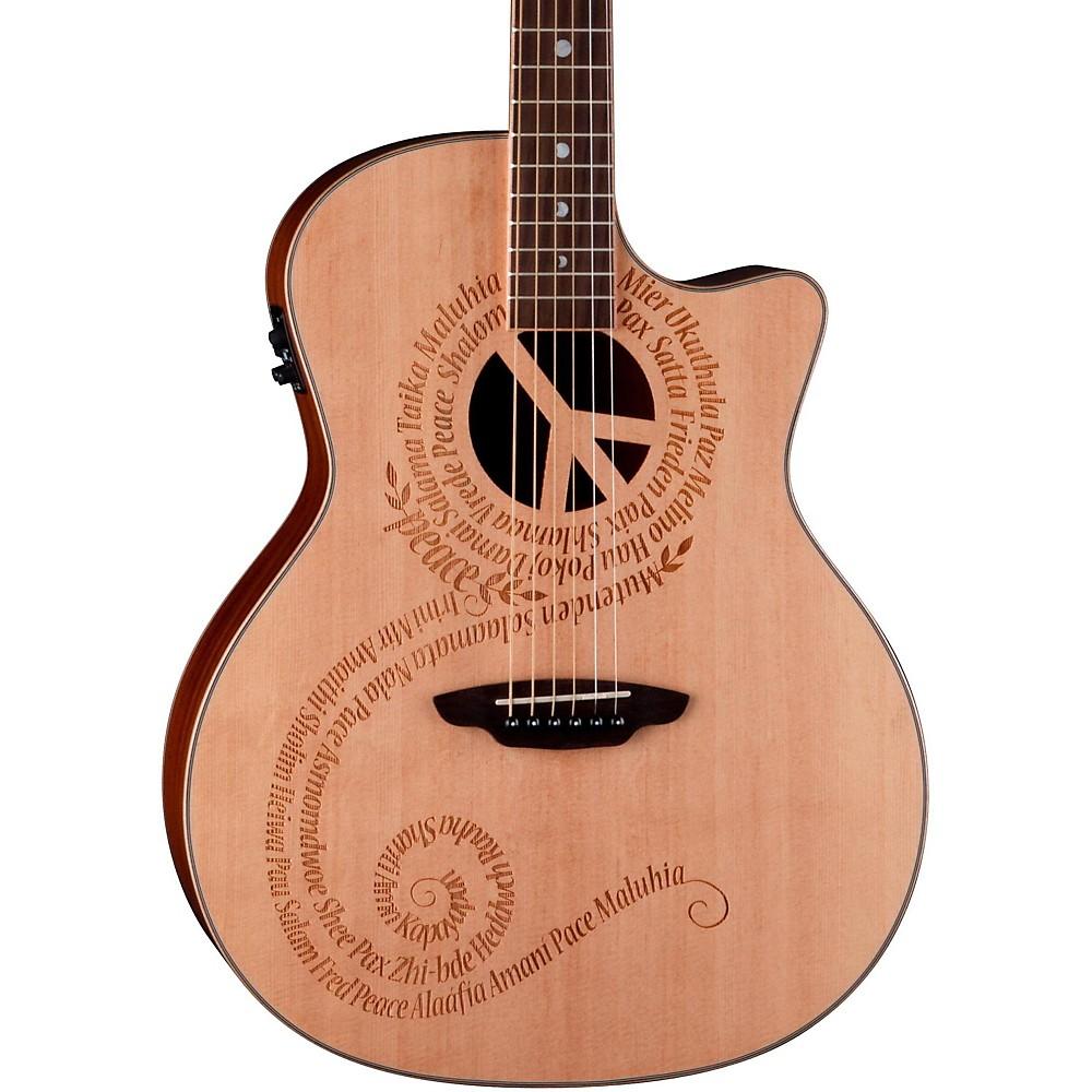 Warriors Imagine Dragons Electric Guitar Tab: Luna Guitars Oracle Grand Concert Series Peace Acoustic
