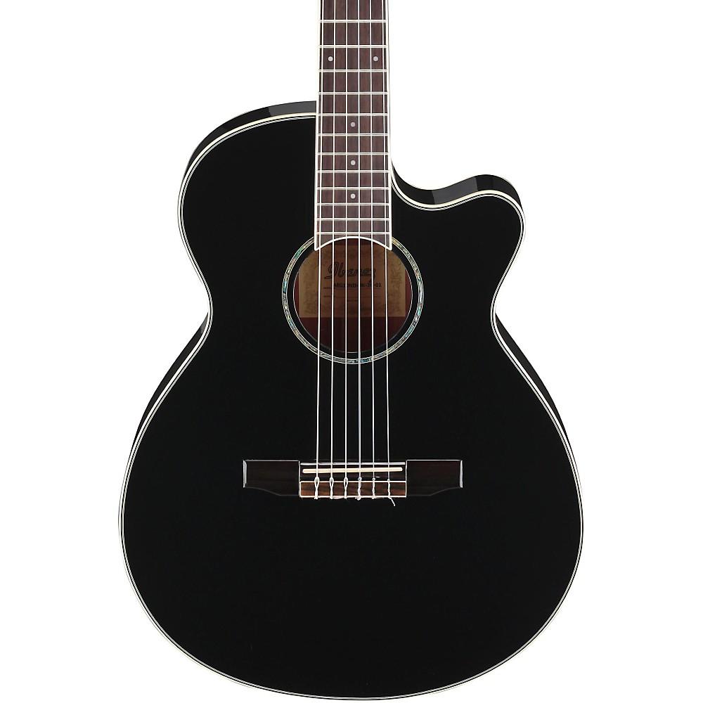 ibanez aeg10nii nylon string cutaway acoustic electric guitar black 606559988082 ebay. Black Bedroom Furniture Sets. Home Design Ideas