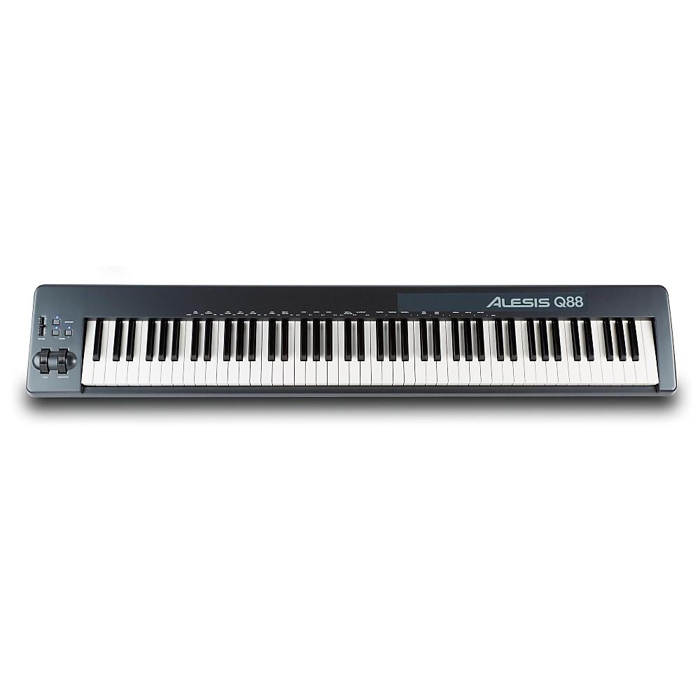 alesis q88 88 key usb midi piano length portable keyboard controller ebay. Black Bedroom Furniture Sets. Home Design Ideas