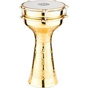 Meinl HE-214 Brass-Plated and Hand-Hammered Copper Darbuka