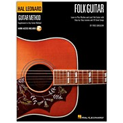 Hal Leonard Hal Leoanrd Folk Guitar Method - Learn to Play Rhythm and Lead Folk Guitar Book/CD