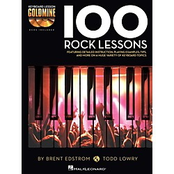 Hal Leonard 100 Rock Lessons - Keyboard Lesson Goldmine Series Book/2-CD Pack (122262)