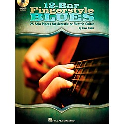 Hal Leonard 12-Bar Fingerstyle Blues - 25 Solo Pieces For Acoustic Or Electric Guitar Book/CD (701463)