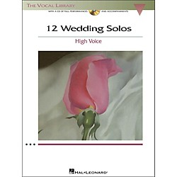 Hal Leonard 12 Wedding Solos For High Voice (The Vocal Library) Book/CD (1186)