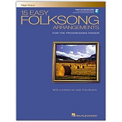 Hal Leonard 15 Easy Folksong Arrangements For High Voice Book/CD (740268)