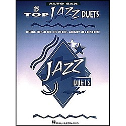 Hal Leonard 15 Top Jazz Duets For Alto Sax (841023)