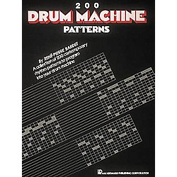 Hal Leonard 200 Drum Machine Patterns Book (657370)