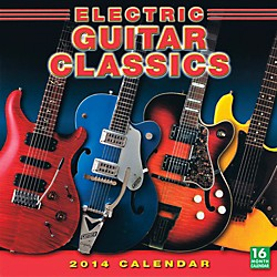 Hal Leonard 2014 Electric Guitar Classics 16-Month Wall Calendar (121646)