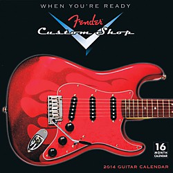 Hal Leonard 2014 Fender Custom Shop 16-Month Wall Calendar (121644)