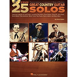 Hal Leonard 25 Great Country Guitar Solos (Book/CD) (699926)