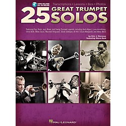 Hal Leonard 25 Great Trumpet Solos Book/CD includes Transcriptions * Lessons * Bios * Photos (312560)