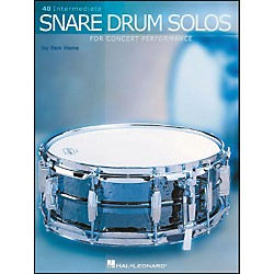 Hal Leonard 40 Intermediate Snare Drum Solos For Concert Performance (6620067)