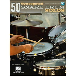 Hal Leonard 50 Syncopated Snare Drum Solos - A Modern Approach For Jazz, Pop & Rock Drummers Book/Online Audio (119645)