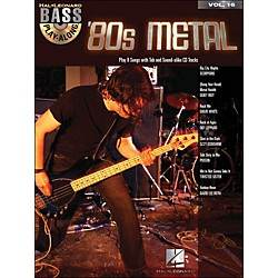 Hal Leonard 80s Metal Bass Play-Along Volume 16 Book/CD (699825)