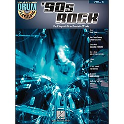 Hal Leonard 90s Rock - Drum Play-Along Volume 6 Book/CD (699746)