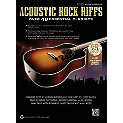 Hal Leonard Acoustic Rock Riffs Guitar Book & CD (322447)