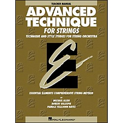 Hal Leonard Advanced Technique Teacher's Manual For Strings (868033)