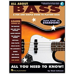 Hal Leonard All About Bass (Fun & Simple Guide To Playing Bass From Start To Stardom) Book/CD (695930)