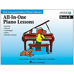 Hal Leonard All-In-One Piano Lessons Book B Book/CD Package Hal Leonard Student Piano Library (296776)