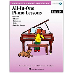 Hal Leonard All-In-One Piano Lessons Book D Book/CD (296852)