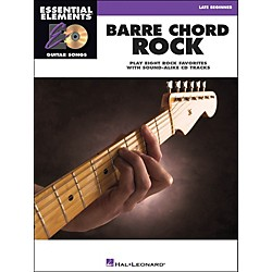 Hal Leonard Barre Chord Rock Essential Elements Guitar Songs Book/CD Late Beginner (1137)