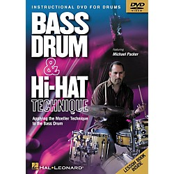 Hal Leonard Bass Drum and Hi-Hat Technique Applying the Moeller Technique to the Bass Drum (DVD) (320537)