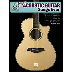 Hal Leonard Best Acoustic Guitar Songs Ever Guitar Tab Songbook (690859)