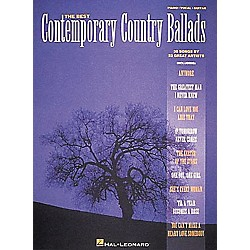 Hal Leonard Best Contemporary Country Ballads Piano, Vocal, Guitar Songbook (310116)