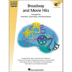 Hal Leonard Broadway And Movie Hits Level 3 Book/CD Hal Leonard Student Piano Library (296626)