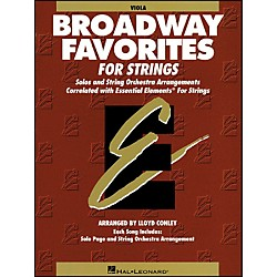 Hal Leonard Broadway Favorites For Strings Viola Essential Elements (868041)