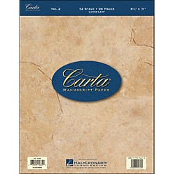 Hal Leonard Carta Manuscript Paper # 2 - Looseleaf, 8.5 X 11, 96 Pages, 12 Stave (210009)