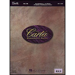 Hal Leonard Carta Partpaper 9X12, Dbl Sided, 24 Sheets, 4 Sys/Pg Pno Vo Stave (210060)