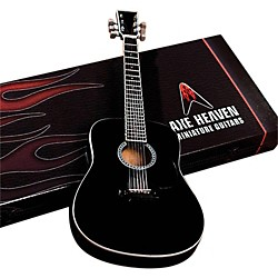Hal Leonard Classic Black Finish Acoustic Miniature Guitar Replica Collectible (124392)