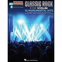 Hal Leonard Classic Rock - Violin - Easy Instrumental Play-Along Book with Online Audio Tracks (122205)