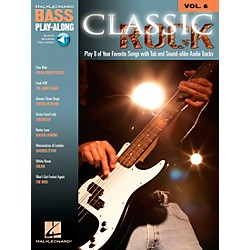 Hal Leonard Classic Rock Bass Guitar Play-Along Series Volume 6 Tab Songbook with CD (699678)