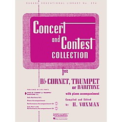 Hal Leonard Concert And Contest Collection For B Flat Cornet, Trumpet Or Baritone Solo Part (4471730)