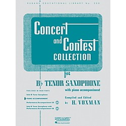 Hal Leonard Concert And Contest Collection For B Flat Tenor Saxophone Piano Accompaniment Only (4471720)