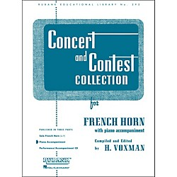 Hal Leonard Concert And Contest Collection For French Horn In F Piano Accompaniment Only (4471780)