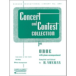 Hal Leonard Concert And Contest Collection For Oboe Piano Accompaniment Only (4471680)