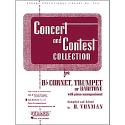 Hal Leonard Concert And Contest Collection for Baritone B.C. Solo Part Only (4471750)
