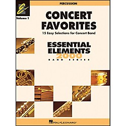 Hal Leonard Concert Favorites Vol1 Percussion 15 Easy Selections For Concert Band (860134)