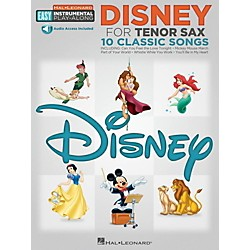 Hal Leonard Disney - Tenor Sax - Easy Instrumental Play-Along Book with Online Audio Tracks (122187)