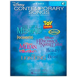 Hal Leonard Disney Contemporary Songs For Low Voice Book/CD (448)