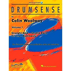 Hal Leonard Drumsense Volume 1 - Straight Rock, Shuffle Rock, Fill-Ins, And Rudiments Book/CD (6620033)