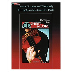 Hal Leonard Dvorak Glazunov And Tchaikovsky String Quartets Score And Parts CD Sheet Music (220263)