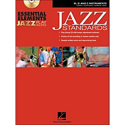 Hal Leonard EE Jazz Play Along: Jazz Standards B-Flat, E-Flat And C Instruments Book/CD-Rom (841987)